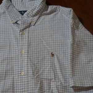 Mens Ralph Lauren SS Button Front Blake Dress Shir